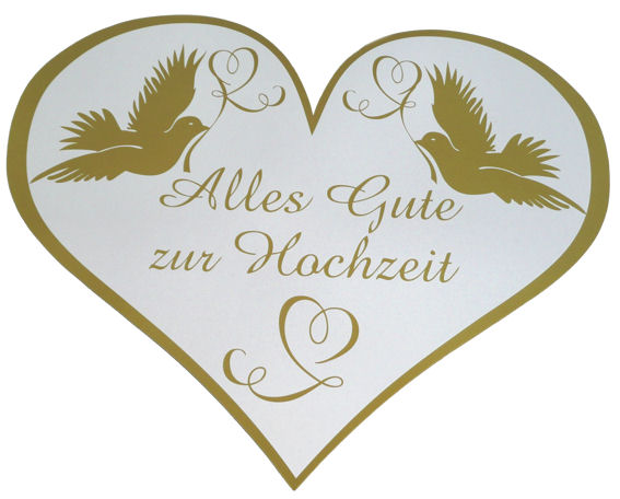 papp herz schild 39 alles gute zur hochzeit 39 ca 48 cm ebay. Black Bedroom Furniture Sets. Home Design Ideas