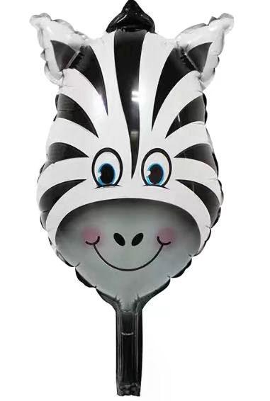 Mini-Folien-LUFTballon 'Zebra-Kopf'