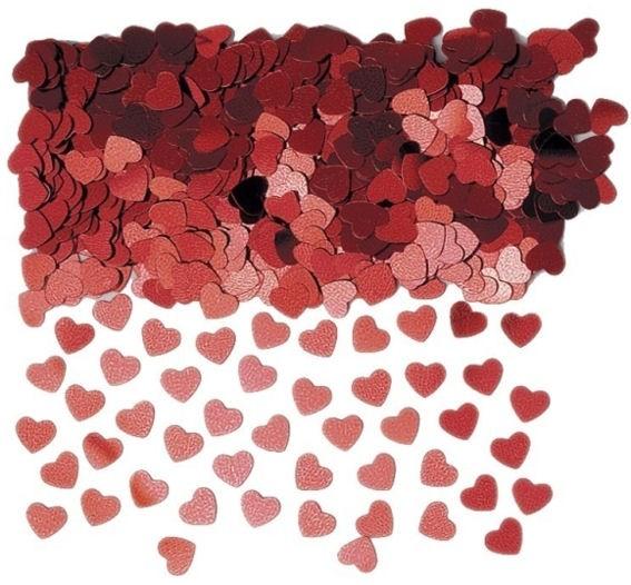 'Sparkle Hearts' rot, Flitterbox-Streuartikel, ca. 14 gr.