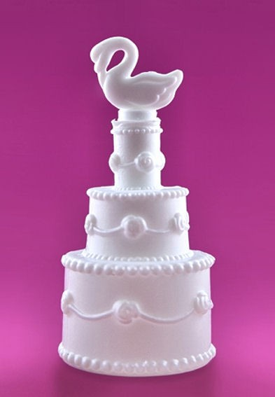 Seifenblasen / Wedding Bubbles 'Hochzeits-Torte' im 24er-Pack.