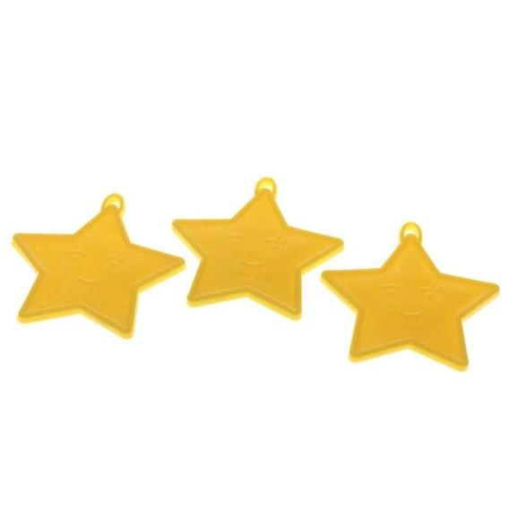 Kleines Ballongewicht 'Stern', ca. 9 gr. schwer, gelb