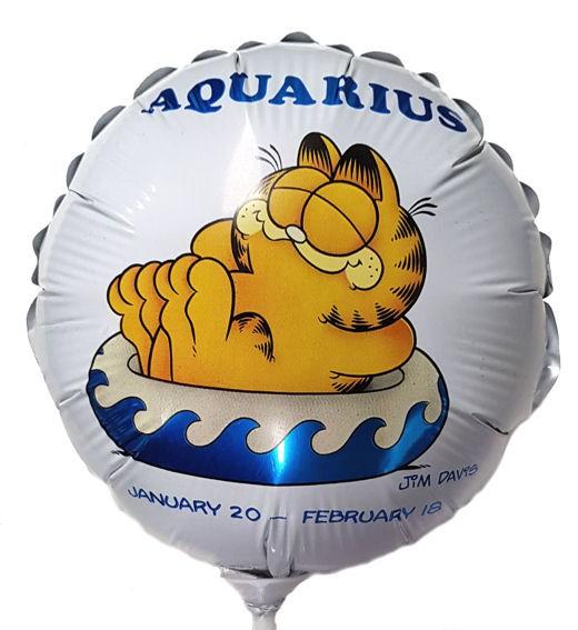 Folienballon-Stecker 'Garfield-Aquarius / Wassermann'