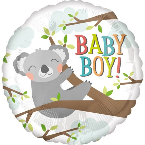 Folien-Rundballon (A) 'Baby Koala Boy', ca. 43 cm