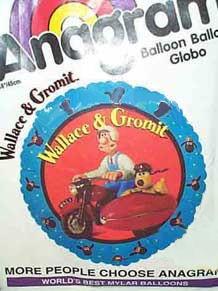 Folien-Rundballon 'Wallace & Gromit', ca. 45 cm Ø, verschiedene Ausführungen