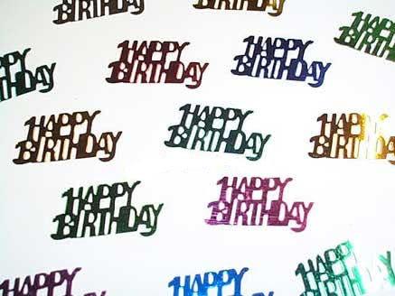 'Happy Birthday' Flitterbox-Streuartikel, bunt, ca. 14 gr.