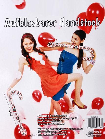 'Verkehrszeichen - Happy 50 Birthday' Aufblasbarer Spazierstock / Handstock