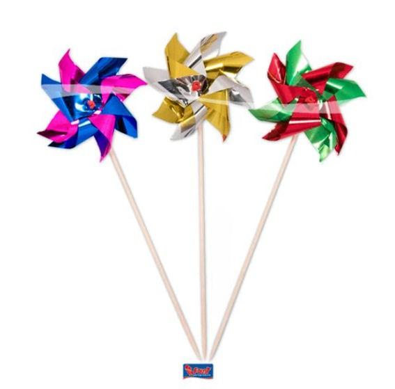 Cupcake-Topper / Picks 'Windmühle' 8er-Pack. Folienartikel auf Holzstäbchen