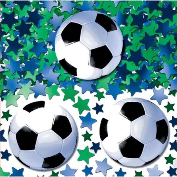 'Soccer / Fußball' Flitterbox-Streuartikel, 14 gr. im SB-Beutel