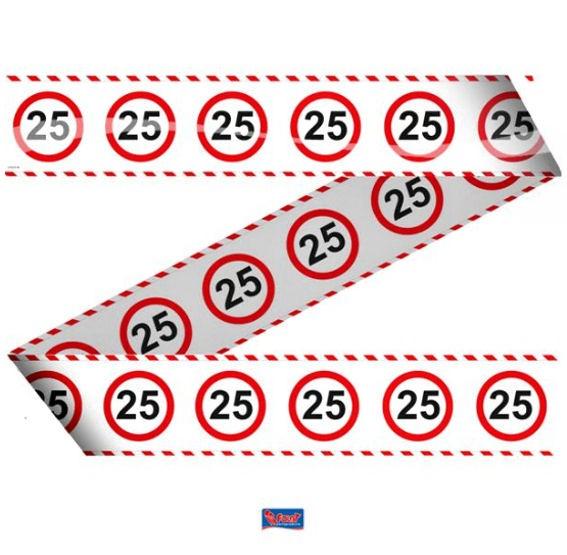 'Verkehrszeichen 25' Absperrband, ca. 7,5 cm x 15 mtr.