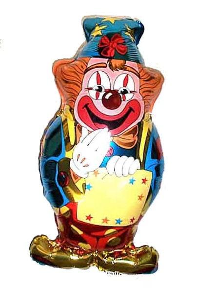 Folienballon 'Happy Birthday Clown', ca. 83 cm Ø, ohne Gasfüllung