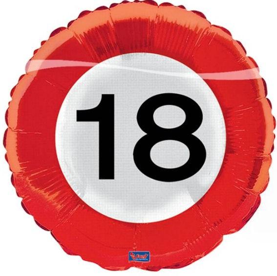 Folien-Rundballon 'Verkehrszeichen 18', ca. 43 cm Ø, verschiedene Ausführungen
