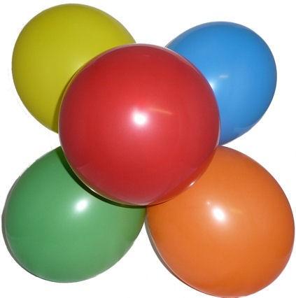 Luftballons mit ca. 25 cm Ø, 75/85 cm Umfang, bunt-sortiert / einfache Sortierung