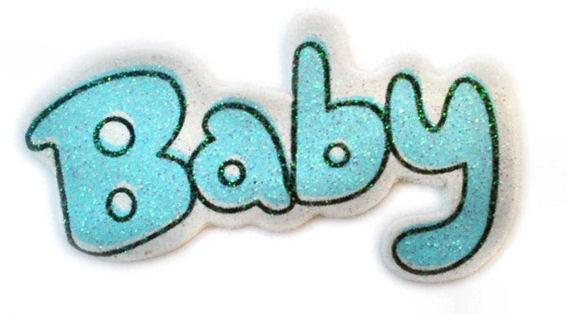 'Baby' Streuartikel, Holz, 25er-Pack., hellblau