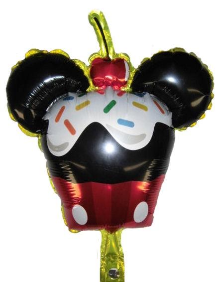 Mini-Folien-LUFTballon 'Micki-Cupcake'