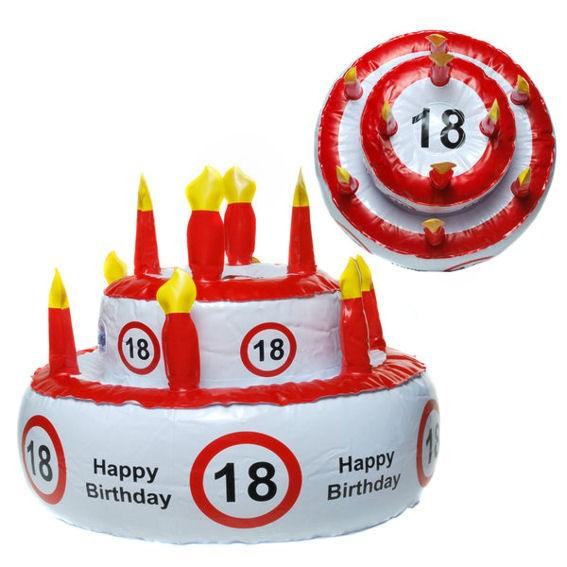 'Verkehrszeichen - Aufblasbare Geburtstags-Torte - 18 Happy Birthday'