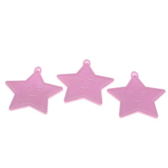 Kleines Ballongewicht 'Stern', ca. 9 gr. schwer, rosa