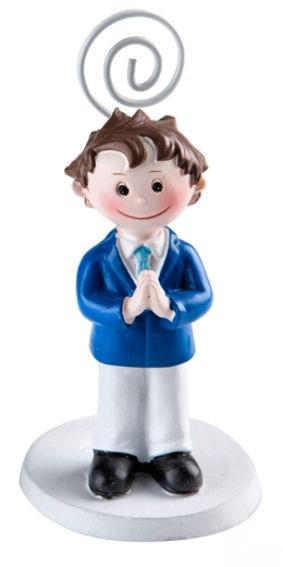 'Kommunionskind - Junge' Polystone, ca. 10,5 cm, mit Klammer