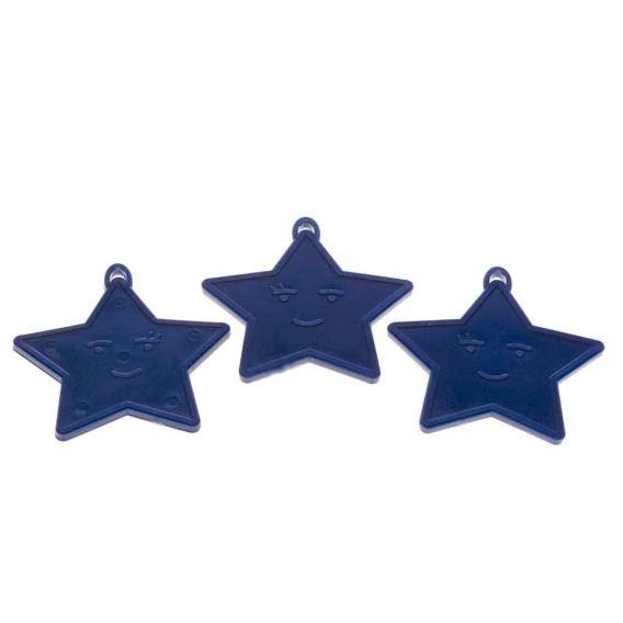 Kleines Ballongewicht 'Stern', ca. 9 gr. schwer, blau
