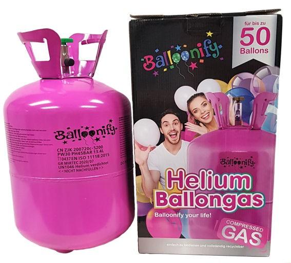 Party Gaskartusche mit 0,4 m3-Inhalt, UN 1046 Ballongas / Helium, ohne Ballons