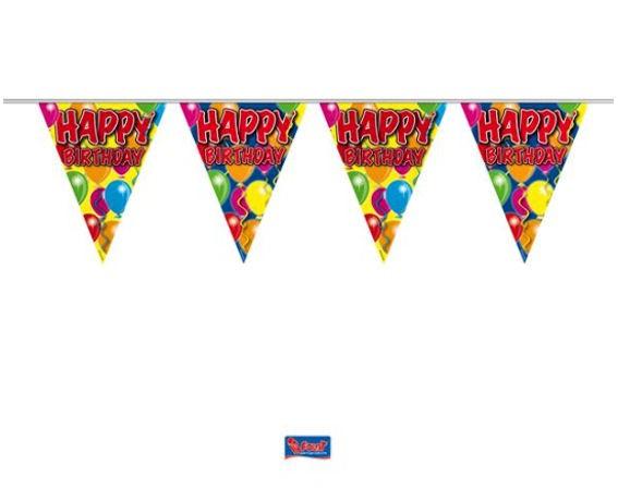 'Ballons - Happy Birthday' Wimpelkette, bunt, Kunststoff, ca. 10 m