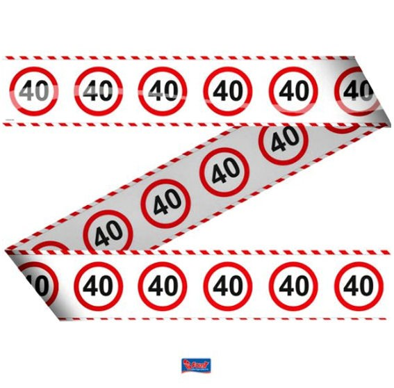 'Verkehrszeichen 40' Absperrband, ca. 7,5 cm x 15 mtr.
