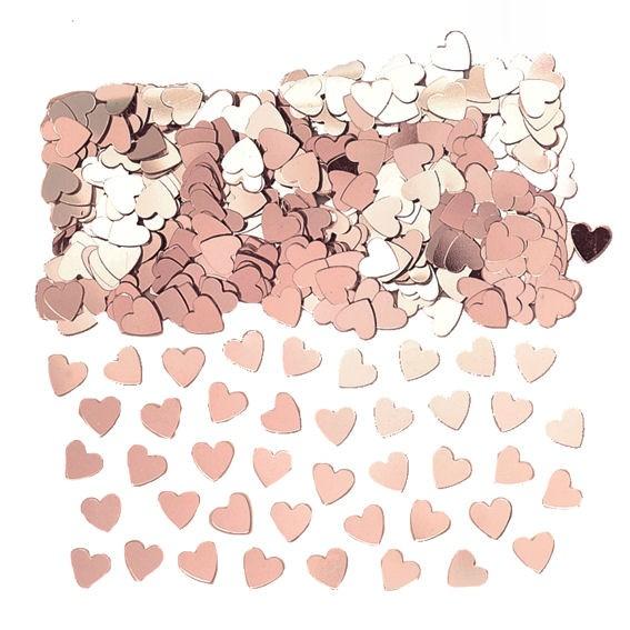 'Sparkle Hearts' rosegold, Flitterbox-Streuartikel, ca. 14 gr.