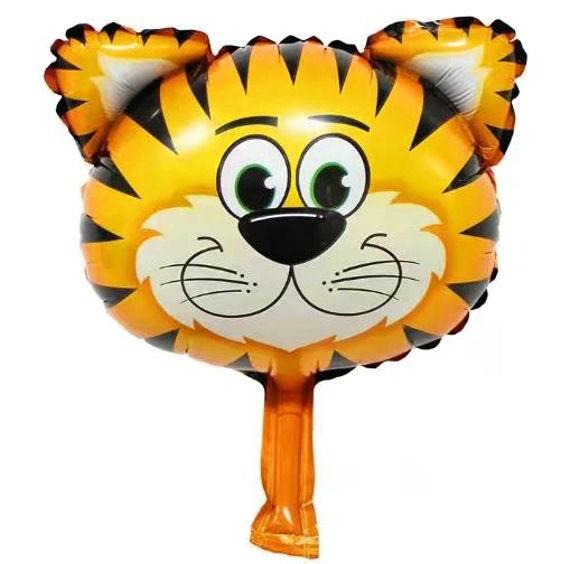 Mini-Folien-LUFTballon 'Tiger-Kopf'