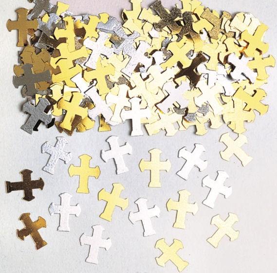 'Crosses - gold & silver' Flitterbox, 14 gr. im SB-Beutel
