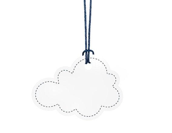 'Little Cloud'-Anhänger im 6er Pack., ca. 7,1 x 5,2 cm, vielfäll. Moglichkeiten