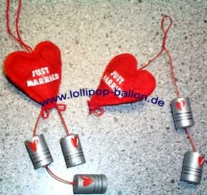 'Just Married' Herz-Anhänger, versch. Modelle, ca. 17 cm