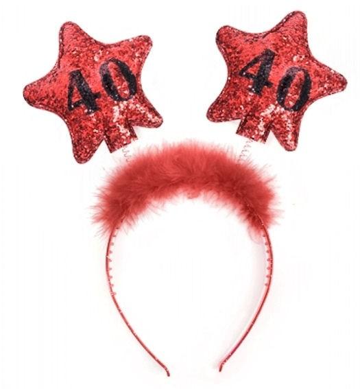 '40th Birthday' Haarreifen / Kopfband zum 40. Geburtstag