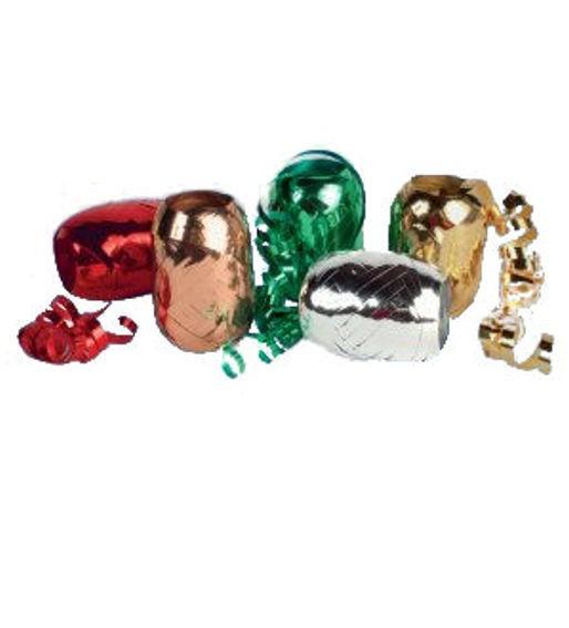 Polyband-Ei, versch. Metallic-Farben, ca. 5 mm x 20 lfm.