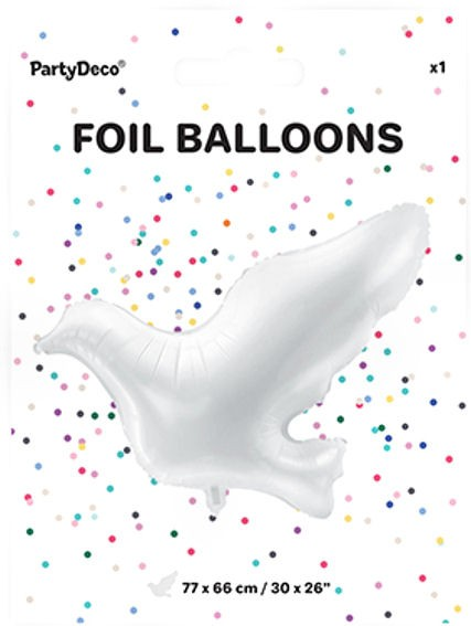 Folienballon-Shape (F) 'Dove - Taube' ca. 77 cm, ohne Gasfüllung