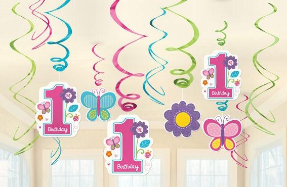 Swirl Decorations 'Sweet Birthday Girl' 12-tlg. in versch. Größen und Farben
