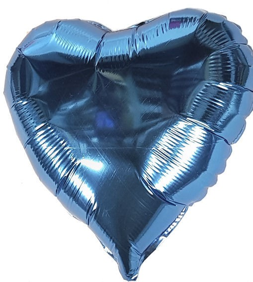 "Folien-Herzballon (A), ca. 18"" / 45 cm Ø, hellblau"