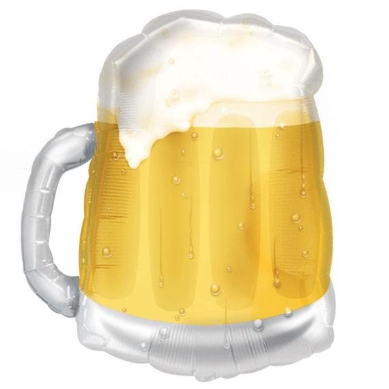 FolienballonShape (G) 'Beer Mug - Bierkrug', ca. 58 cm