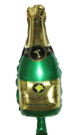 Mini-Folien-LUFTballon 'Champagne Flasche - Chateau Celebration'