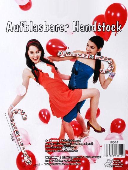 'Verkehrszeichen - Happy 60 Birthday' Aufblasbarer Spazierstock / Handstock