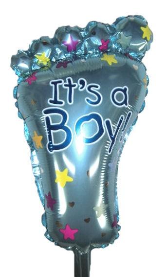 Mini-Folien-LUFTballon 'Its A Boy - Foot'