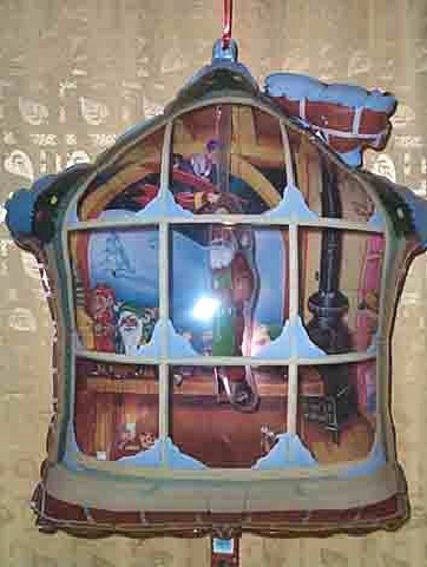 Panorama+Mobile-Haus Folienballon (F) 'Weihnachtswerkstatt', ca. 73 cm