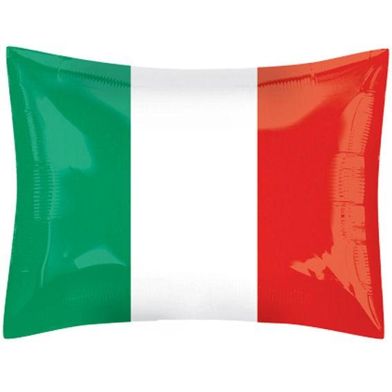 Folienballon Shape National-Flagge 'Italien', ca. 43 x 51 cm Ø, verschiedene Ausführungen