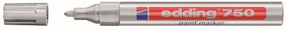 silber, Edding 750 paint marker / Lackstift, z. B. für Ballonbeschriftungen