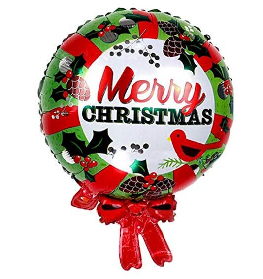 FolienballonShape (C) 'Merry Christmas - Türkranz', ca. 64 cm
