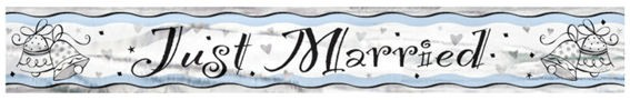 'Just Married - Glocken' - Banner, ca. 3,65 m lang