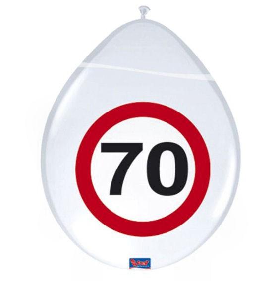 'Verkehrszeichen 70' - Luftballons, ca. 30 cm Ø, weiß, 1-S-Druck, im 8er-Pack.