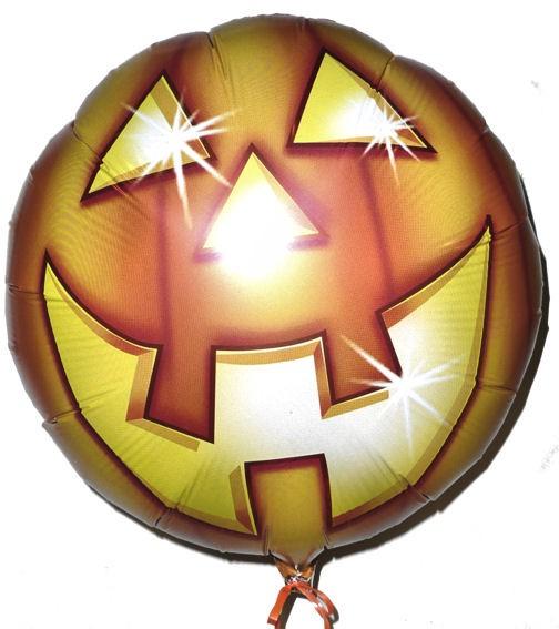 Folien-Rundballon 'Laughing Pumpkin Halloween', ca. 45 cm Ø, verschiedene Ausfüh