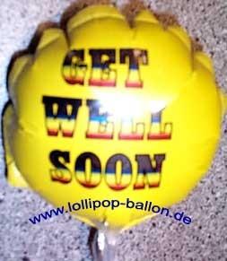 Mini-Folienballon-Stecker 'Get Well Soon - Gute Besserung'