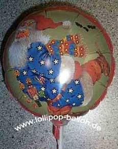 Folienballon-Stecker 'Weihnachtsmann', in verschiedenen Größen