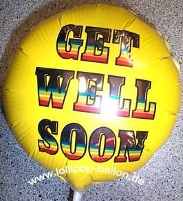 Folienballon-Stecker 'Get Well Soon - Gute Besserung'