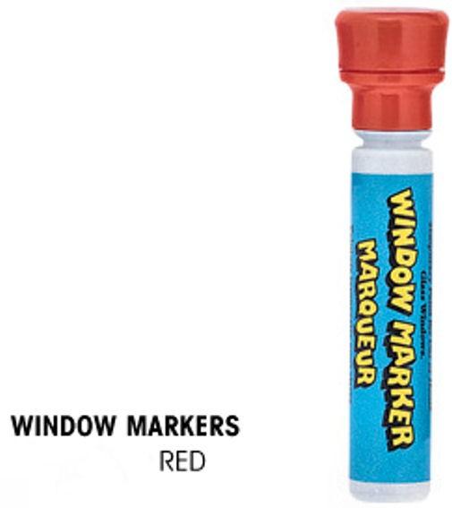 Window-Marker, Stift mit flüssiger roter Kreide